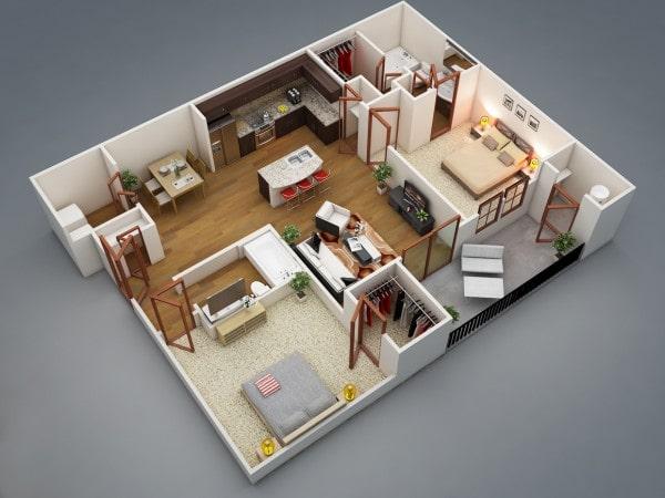 คอนโด2ห้องนอน