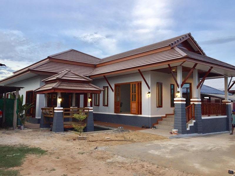 บ้านชั้นเดียวไทยประยุกต์ยกพื้นสูง